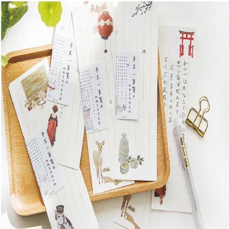 [해외]10pcs / set 6.5x19.5cm 미니 사슴 고양이 흰색 일본식 귀여운 편지 용지 세트 문구 상자 학교 사무실에 대 한/10pcs/set 6.5x19.5cm Mini Small Deer Cat White Japanese Style Cute Letter P