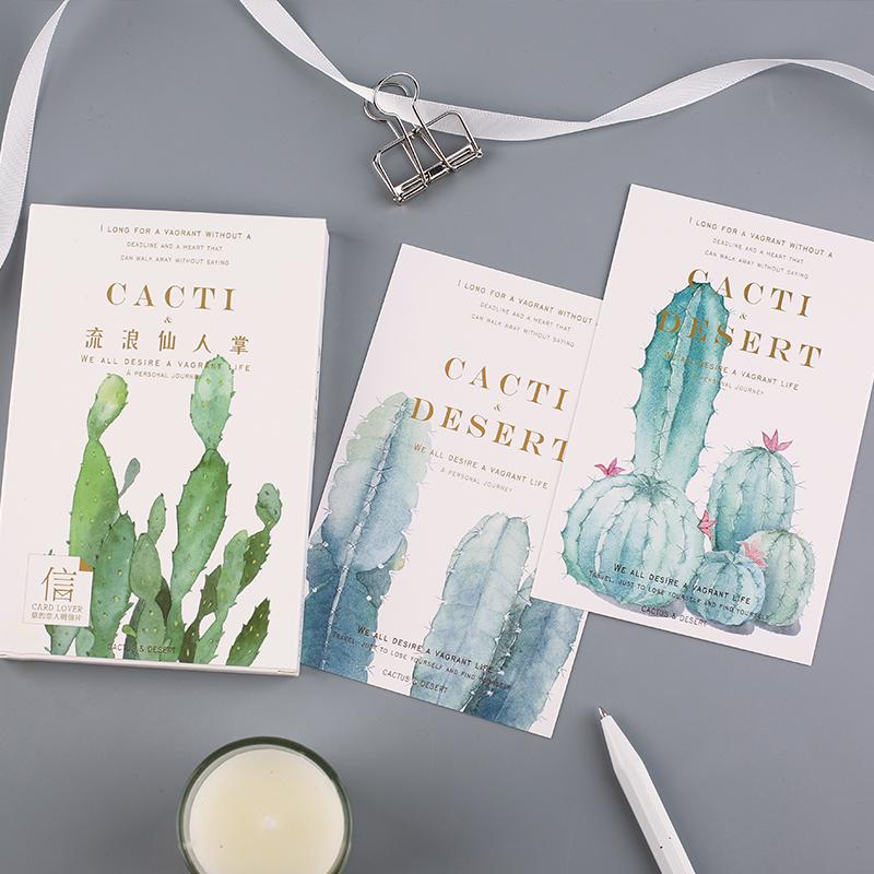 [해외]카드 애호가 선인장 사막 엽서 책갈피 편지 용지 인사 장 1 lot = 1 pack = 30 pcs/Card Lover cactus desert postcard bookmark Letter paper greeting card 1 lot = 1 pack = 30