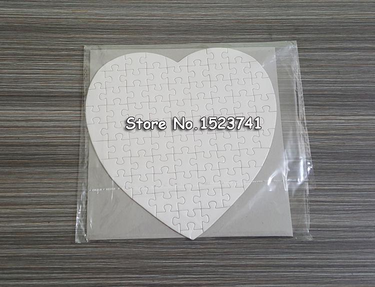 [해외]?10 세트 하트 크기 판자 승화 빈 지그 소 퍼즐 러브 스타일/ 10 Sets Heart Size Hardboard Sublimation Blank Jigsaw Puzzle Love Style