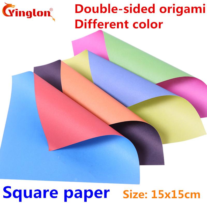 [해외]접는 종이 수제 색상 양면 다른 색 종이 접기 종이 믹스 컬러 용지 DIY 아이 사각형 종이 크레인 종이 접기/Folding paper handmade colour double sided different colors origami paper mix color
