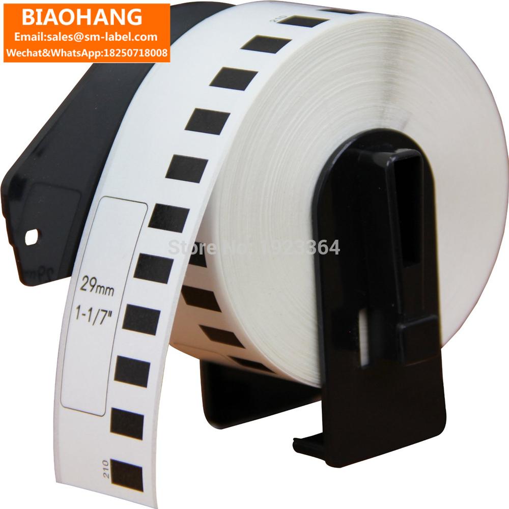 [해외]Brother Label Printer 백서 DK22210 DK2210 호환 DK-22210 라벨 연속 사용 가능 라벨 29mm * 30.48M/Continuous Compatible for Brother Label Printer White Paper DK222