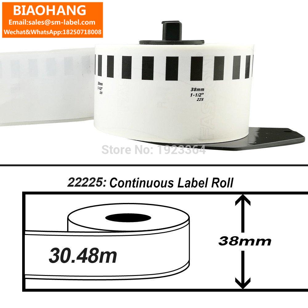 [해외]DK-22225 DK 2225 컷 - 길이 용지 테이프 1.5 in x 100 ft Brother 호환 (38 mm x 30.48m) 1 카트리지/DK-22225 DK 2225 Cut-to-Length Paper Tape 1.5 in x 100 ft Brothe