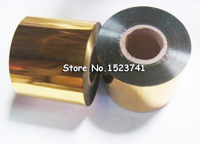 [해외]1 롤 골드 작은 크기 6cm * 120m Hot 호 일 스탬프 기계에 대 한 스탬프 기계 DIY 초대장 로고 경제 선택/1roll Gold Small size  6cm*120m Hot Foil Stamping Paper Suit For Stamp Machine