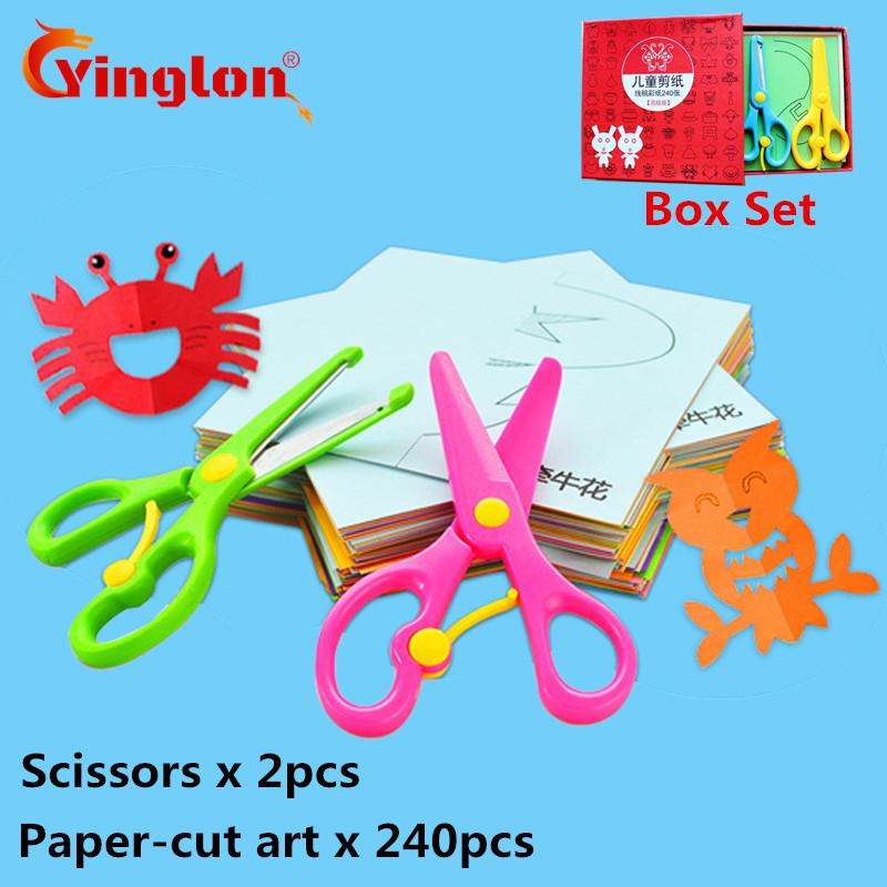 [해외]240 pcs2 가위 어린이 & s 종이 접기 종이 컷 세트 어린이 & s 수제 재미 스테레오 손수 만든 아이 3D 수제 종이 컷 책/240 pcs2 scissors children&s origami paper-cut set Children&s h
