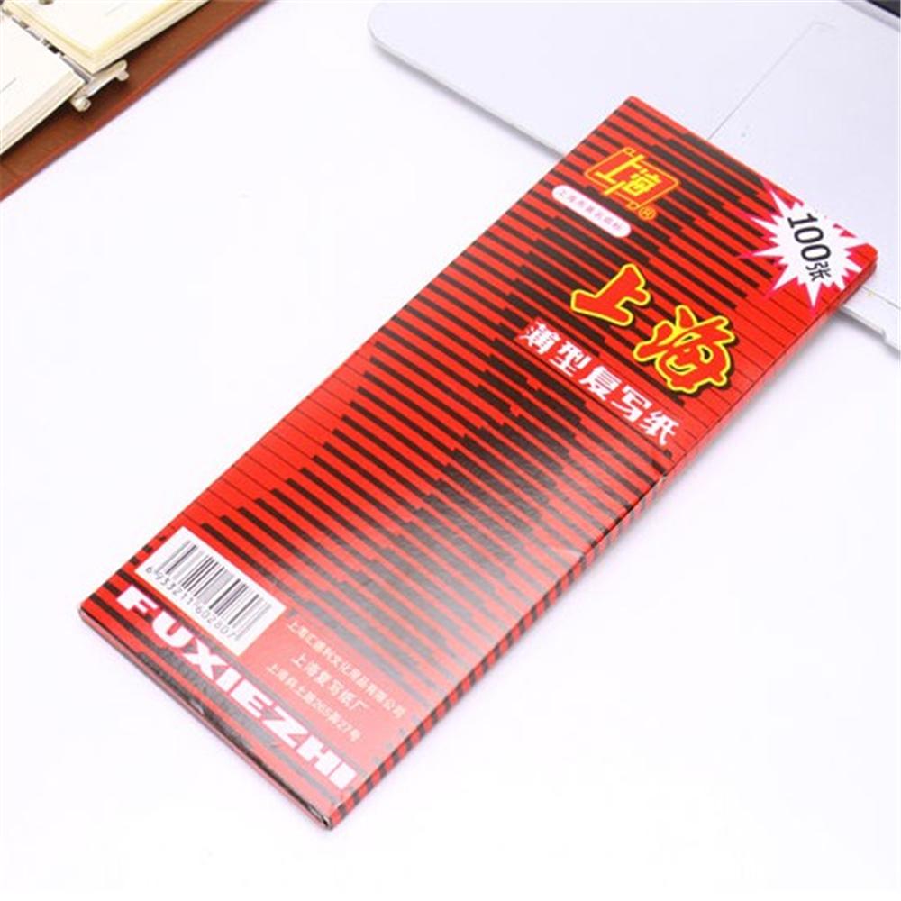 [해외]100pcs / box 38K 레드 탄소 스텐실 전송 용지 양면 핸드 프로 복사기 추적 헥토 그래프 Repro 22x8.5cm/100pcs/box 38K Red Carbon Stencil Transfer Paper Double Sided Hand Pro Copi