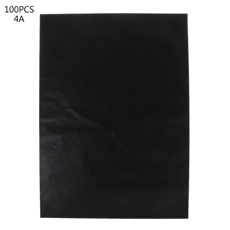 [해외]100 PC A4 검정 단일 양면 탄소 논문 스텐실 손 프로 복사기 탄소 종이 학교 오피스 문구/100 Pcs A4 Black Single Sided Carbon Papers Stencil Hand-pro Copier Carbon Paper School Offi