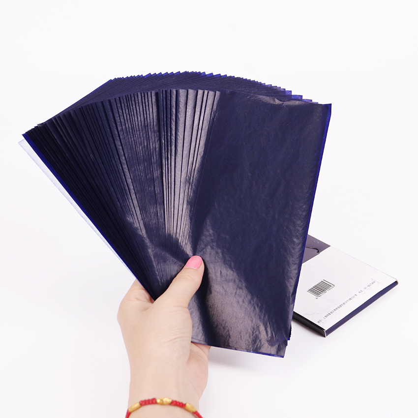 [해외]50PCS 블루 더블 양면 카본 용지 48K 얇은 타입 편지지 종이 금융 사무용품/50PCS Blue Double Sided Carbon Paper 48K Thin Type Stationery Paper Finance Office Supplies