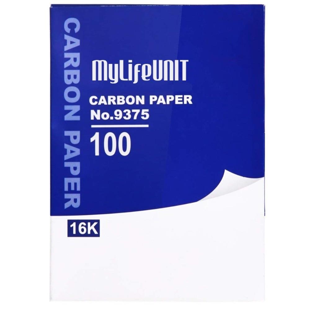 [해외]양면 복사 카본지 10 & x 7.3 & (100 매, 파란색)/Double Sided Hand Copy Carbon Paper 10& x 7.3& (100 Sheets, Blue)