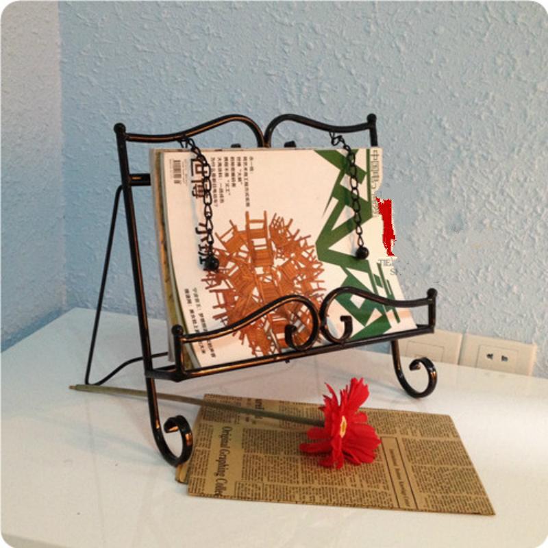 [해외]철 매거진 랙 디스플레이 메뉴 음악 스탠드 샘플 룸 장식 홈 가구 33 * 8 * 33CM/Iron Magazine Rack Display Menu Music Stand Sample Room Decoration Home Furnishing 33*8*33CM