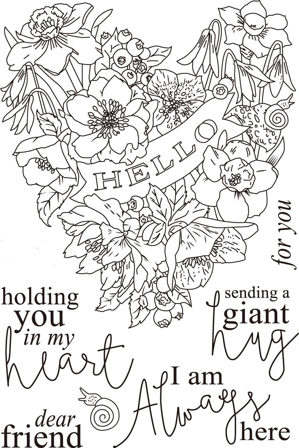 [해외]Hello/ Flower Transparent Clear Silicone Stamp/Seal for DIY scrapbooking/photo album Decorative clear stamp sheets  A813/Hello/ Flower Transparent