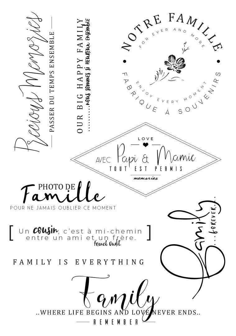 [해외]NOTRE famille Transparent Clear Silicone Stamp Seal DIY Scrapbooking photo Album /NOTRE famille Transparent Clear Silicone Stamp Seal DIY Scrapboo