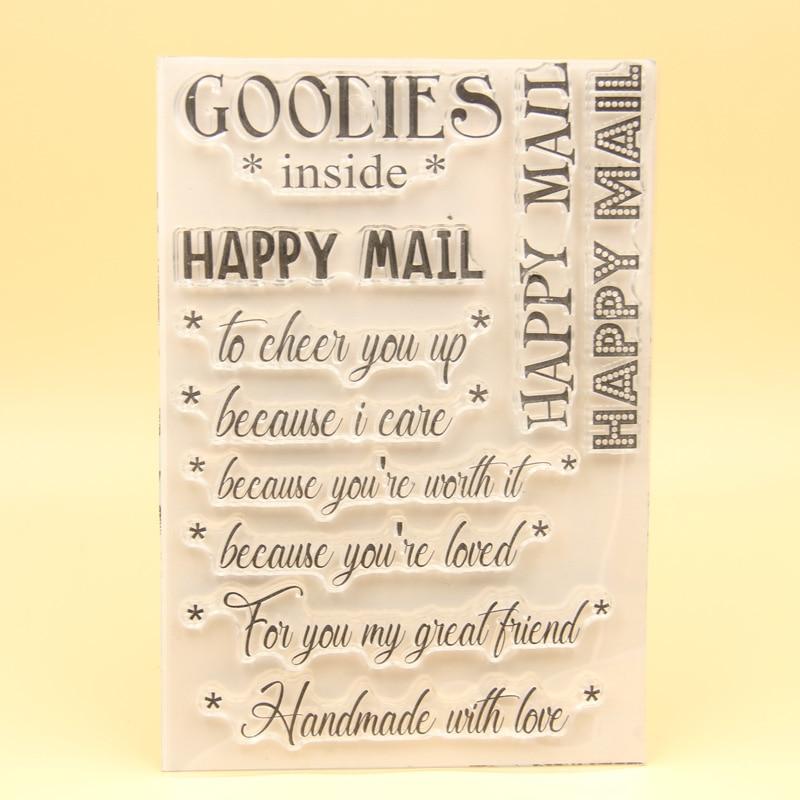 [해외]KLJUYP Happy Mail Clear Stamps Scrapbook Paper Craft Clear stamp scrapbooking 01103/KLJUYP Happy Mail Clear Stamps Scrapbook Paper Craft Clear sta