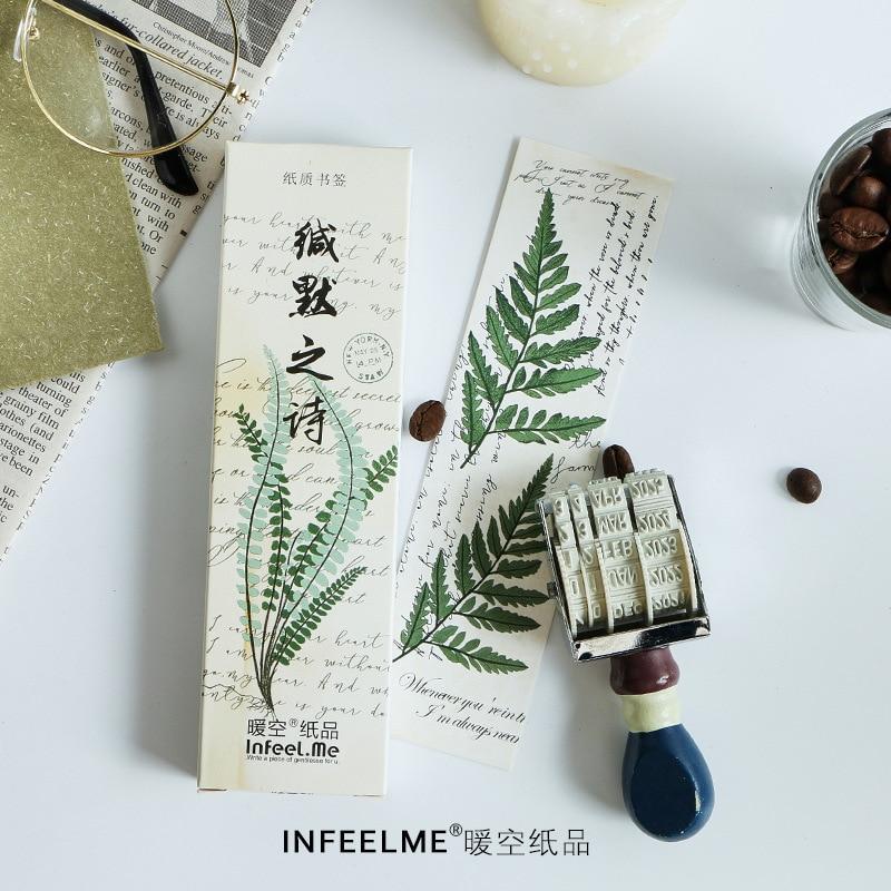 [해외]30 Pcs/Set Novelty Flower Plant Poetry Paper Bookmark Book Holder Message Card Gift Stationery/30 Pcs/Set Novelty Flower Plant Poetry Paper Bookma
