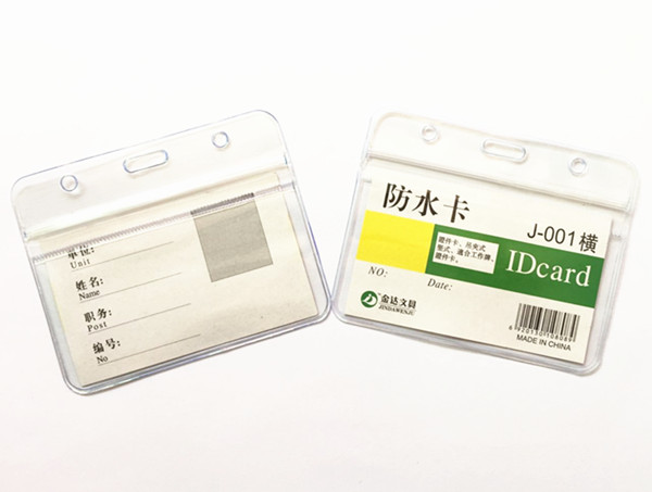 [해외]10pcs/lot New Ziplock Horizontal ID Badge Holder Transparent Waterproof Work Student Nurse ID Card Case Holder /10pcs/lot New Ziplock Horizontal I