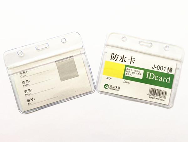[해외]10pcs/lot New Ziplock Horizontal ID Badge Holder Transparent Waterproof Work Student Nurse ID Card Case Holder /10pcs/lot New Ziplock Horizontal I