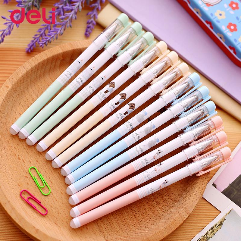 [해외] Deli wholesale 3pcs ballpoint gel pen for writing blue ink office stationery pen cute erasable school supplies stationery pen  / Deli wholesale 3