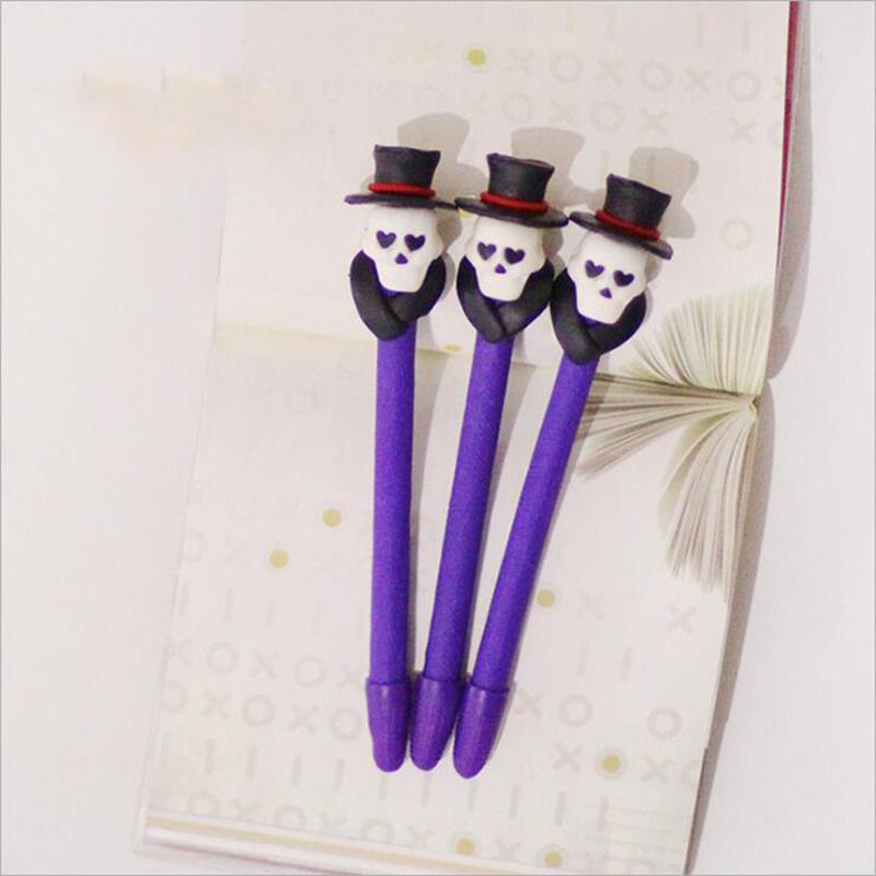 [해외]1PCS 새로운 할로윈 부드러운 점토 볼펜 유령 장식 학생 상금 만화 펜 부드러운 세라믹 펜 사무실 & amp; 학용품/1PCS New Halloween soft clay ballpoint pen ghost decoration student prize c