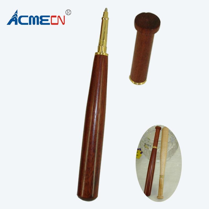 [해외]/ACMECN Hand-made Ballpoint Pen Baseball Bat Shape Wooden Writing Ink Ball Pens for Signature Calligraphy Executive Business