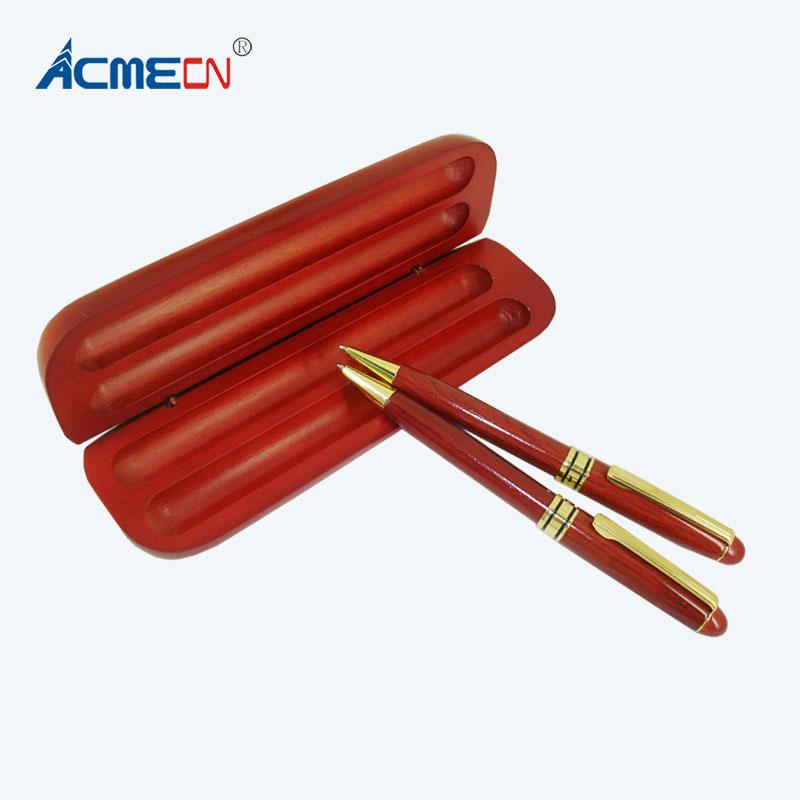 [해외]/Retro Classic Wood Ball Pen sets MB style Rosewood Gold trimWood Pencil Box packing Luxury Wood PenBox Gifts