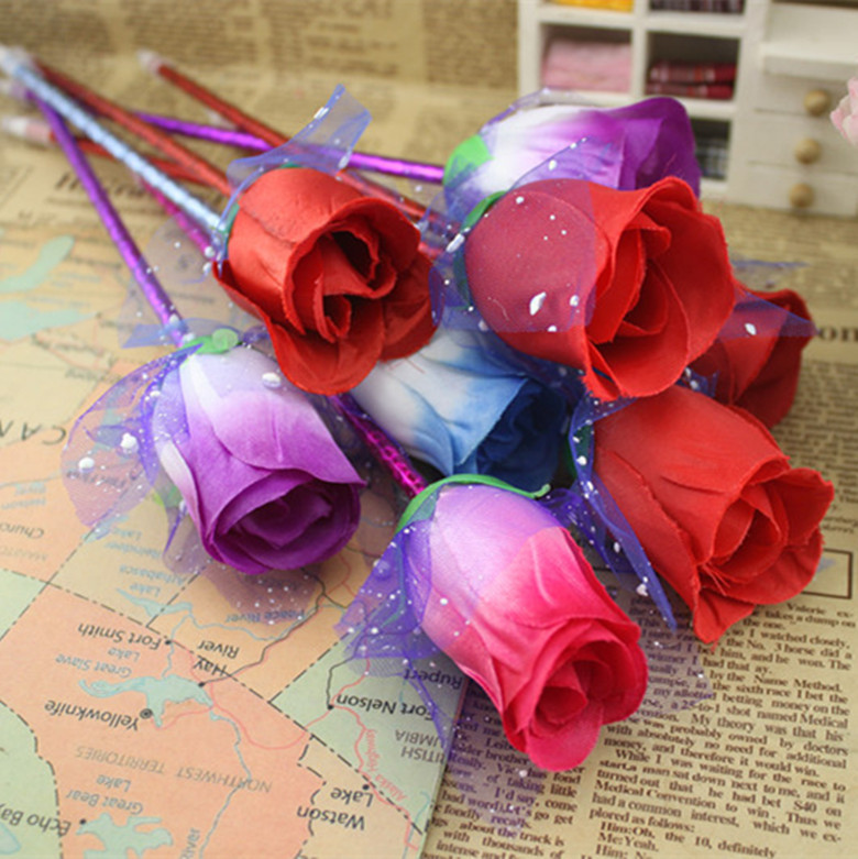 [해외]Free ship1lot=80pcThe Rose flower cute pen / creative pen ballpoint pen / advertising gift pen/Free ship1lot=80pcThe Rose flower cute pen / creati