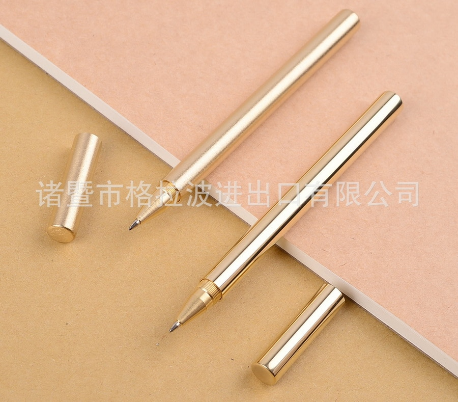 [해외]100pcs Retro Brass Pen Pure Brass Metal Pen By Hand The Tactical Pen Copper Gift Pen Stylus Private Outdoor Travel Kit/100pcs Retro Brass Pen Pure