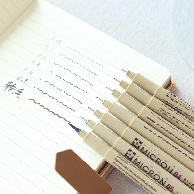 [해외]사쿠라 그래픽 펜 바늘 포인트 만화 드로잉 스케치 디자인 방수 개요 스캐닝 라인 펜 일본/사쿠라 그래픽 펜 바늘 포인트 만화 드로잉 스케치 디자인 방수 개요 스캐닝 라인 펜 일본