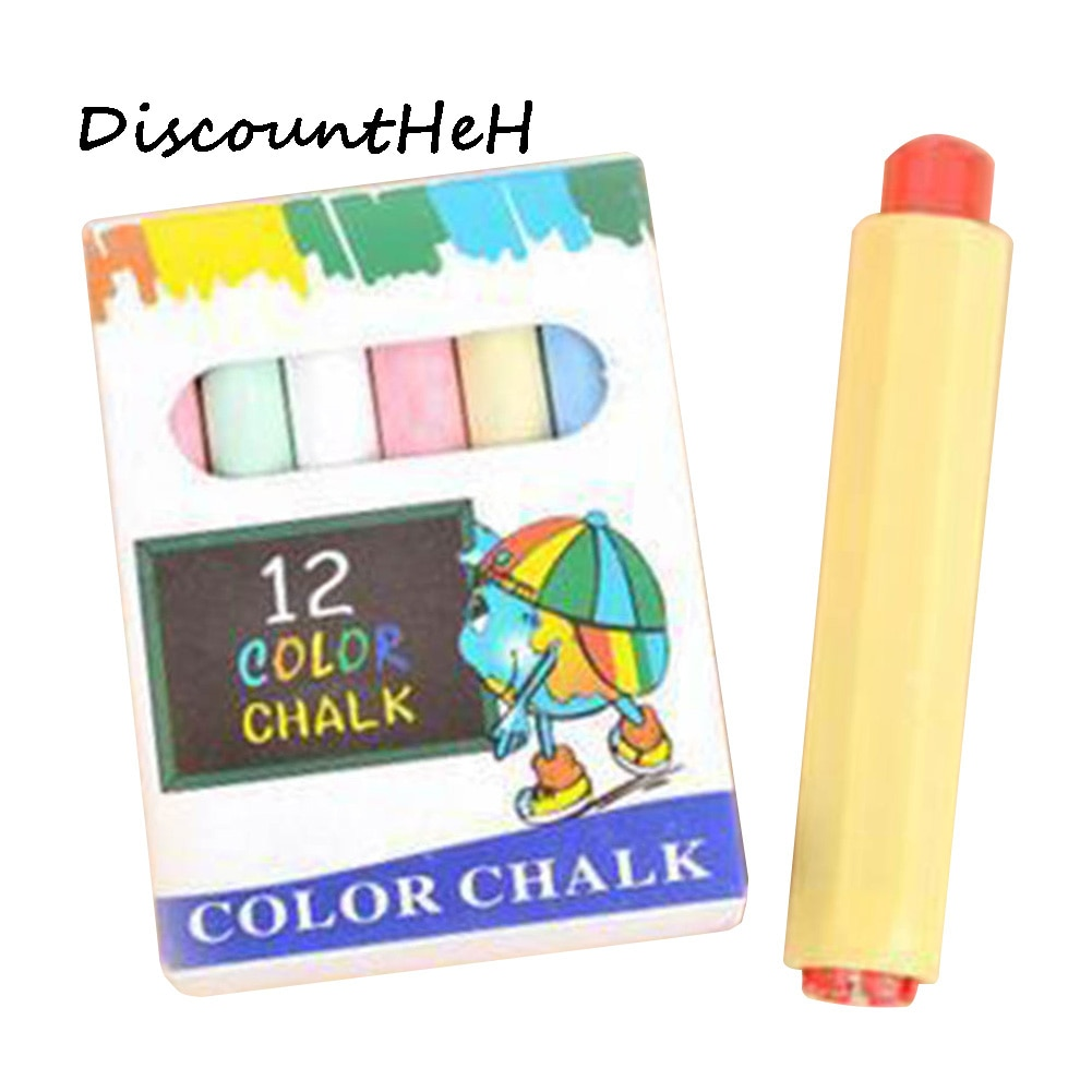 [해외]12pcs Chalk+1pc Chalk Holder Clip Non-dust Cleaning Teaching Pencil ccessories School Teaching Aids/12pcs Chalk+1pc Chalk Holder Clip Non-dust Cle