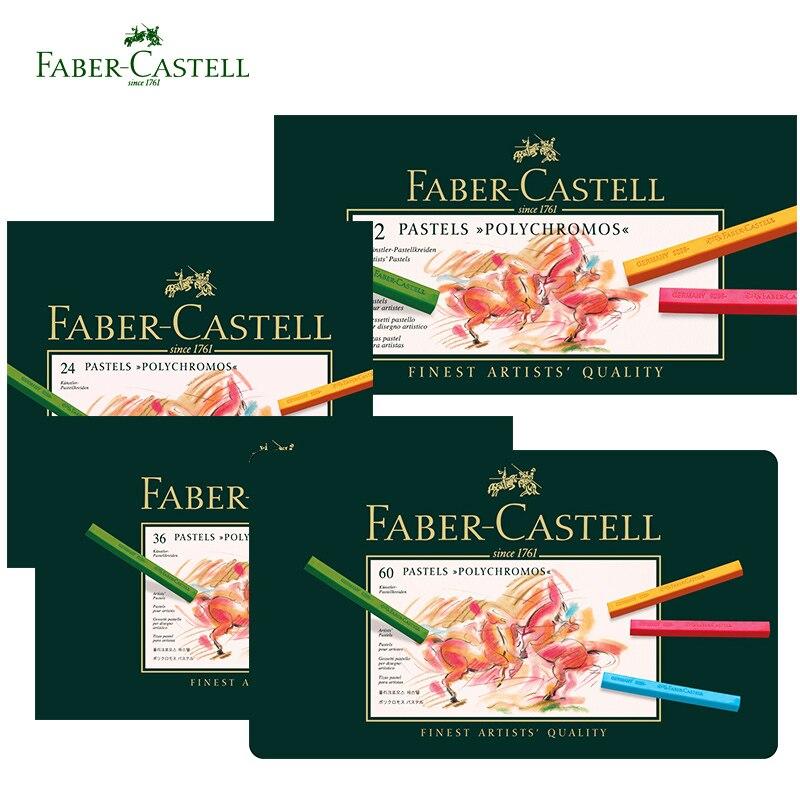 [해외]Faber castell 12/24/36/60 색상 파스텔 크레용 polychromos nontoxic professional 아티스트 페인팅 오일 크레용 손으로 그린/Faber castell 12/24/36/60 색상 파스텔 크레용 polyc