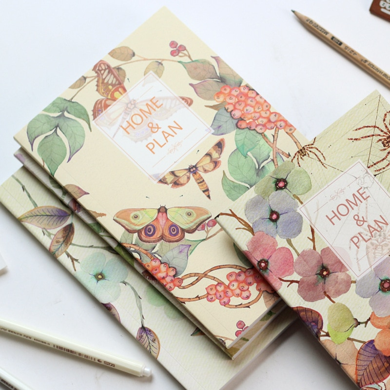 [해외]1pcs Fresh Floral Bookkeeping Homework Home Finance Book Book Notepad Income and Expense Record Handbook Book/1pcs Fresh Floral Bookkeeping Homewo