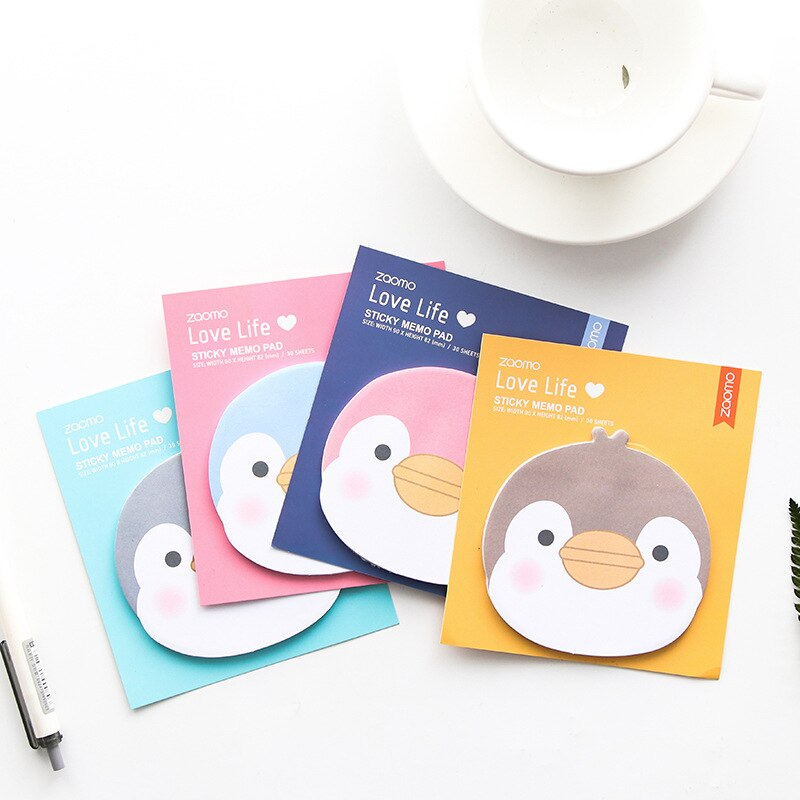 [해외]24 pcs/Lot Cartoon penguin sticky notes and memo pads Mini stick book Stationery Office School supplies Material escolar EM373/24 pcs/Lot Cartoon