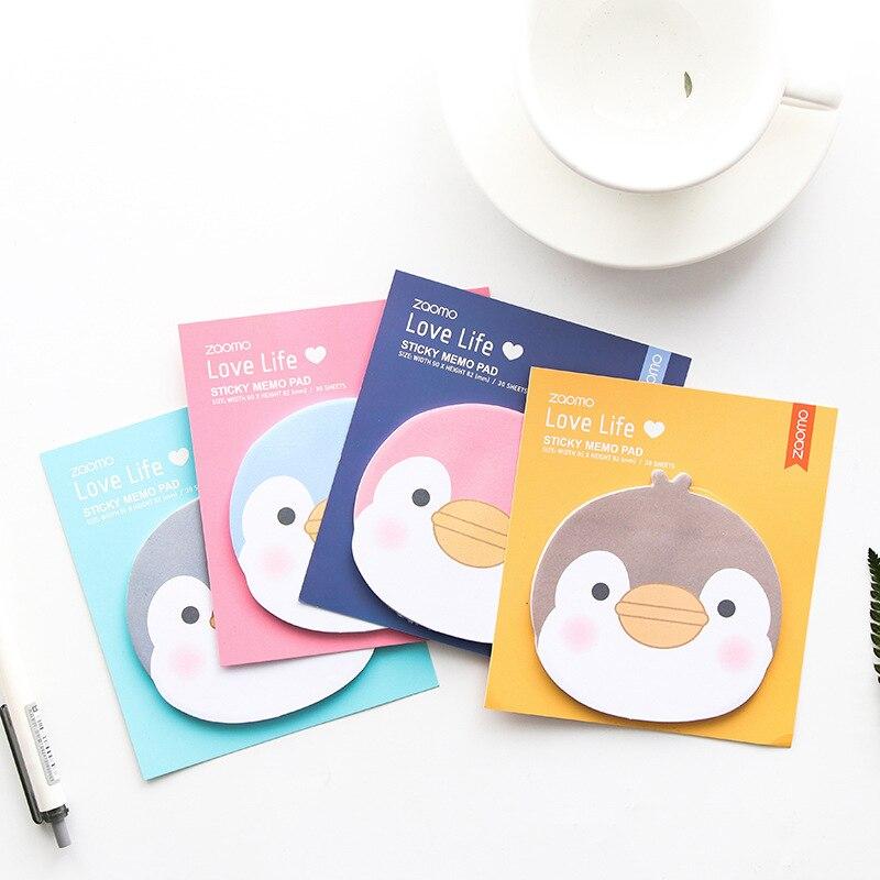 [해외]24 pcs/Lot Cartoon penguin sticky notes and memo pads Mini stick book Stationery Office School supplies Material escolar EM373/24 pcs/Lot Cartoon