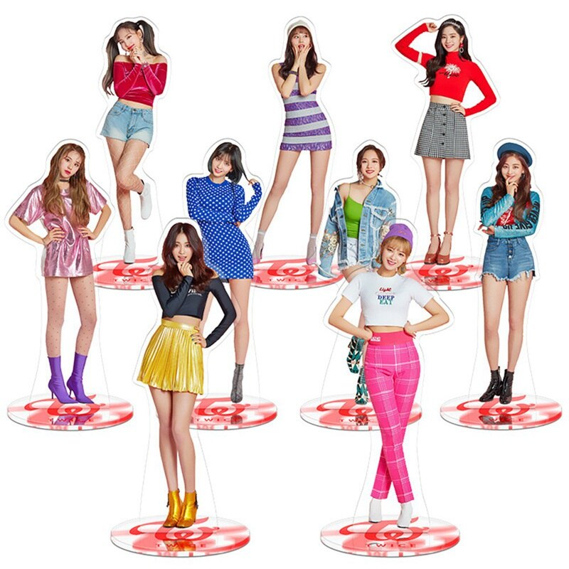 [해외]Kpop Twice Standee Action Figure Doll Nayeon Jungyeon Standing Table Decor Acrylic 21cm/Kpop Twice Standee Action Figure Doll Nayeon Jungyeon Stan