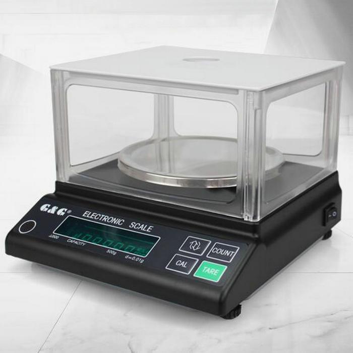 [해외]JJ 시리즈 500g 0.01g 디지털 정밀 전자 저울, 실험실을둥근 스케일 패널 분석 저울 윈드 실드/JJ series 500g 0.01g Digital Precision electronic scale,  round scale panel analytical b