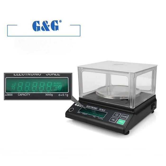 [해외]JJ 시리즈 6000g 0.1g 디지털 정밀 전자 저울, 분석 저울, 실험실 교육용 정확한 계량 규모/JJ series 6000g 0.1g Digital Precision electronic scale, analytical balance, Accurate wei