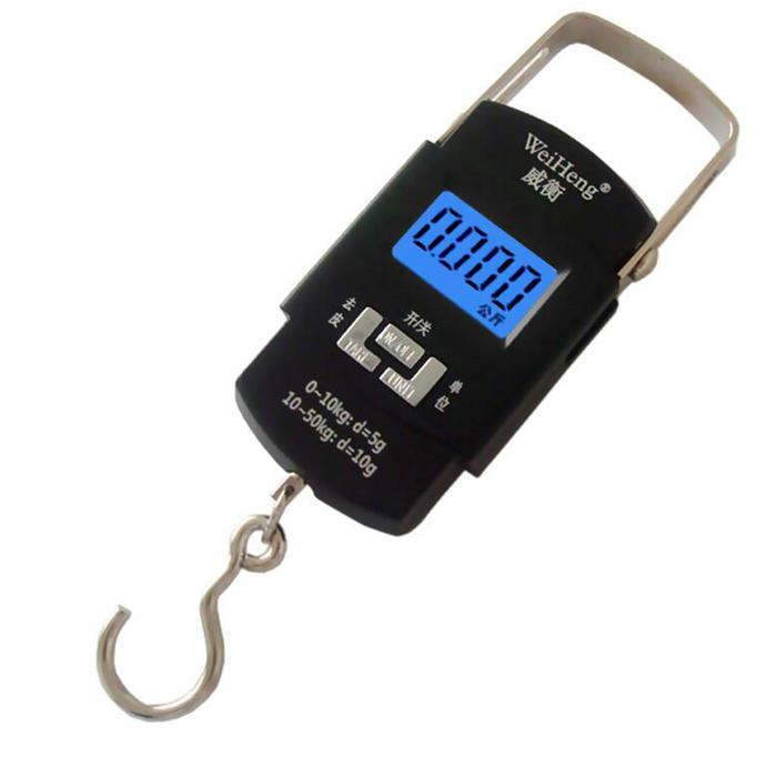 [해외]50KG 10g 전자 휴대용 디지털 저울 걸이 후크 무게 스케일 저울 Steelyard/50KG 10g Electronic Portable Digital Scale Hanging Hook Weight scale Balance scales Steelyard