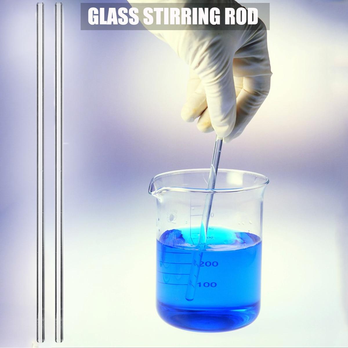 [해외]2pcs / lot 유리 Stirring 막대 250x6mm 투명 단단한 유리 Stirrer 막대 높은 붕 규산염 유리 Buret 믹서 학교 교육에 대 한/2pcs/lot Glass Stirring Rod 250x6mm Transparent Solid Glass
