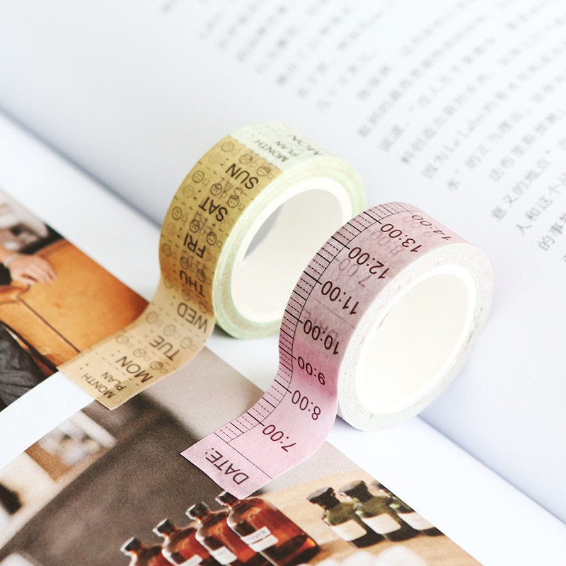 [해외]Fromthenon Time Line And Weekly Plan Washi Tape Notebook Diary Planner Decorative Accessories Schedule Planning Sticker Tape/Fromthenon Time Line