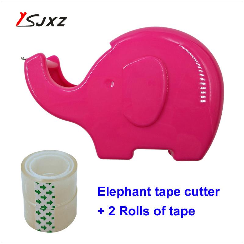 [해외]3 색 귀여운 만화 코끼리 작은 테이프 커터 접착 테이프 디스펜서 홀더 크리 에이 티브 씰링 장치 테이프 기계/3 색 귀여운 만화 코끼리 작은 테이프 커터 접착 테이프 디스펜서 홀더 크리 에이 티브 씰링 장치 테이프 기계