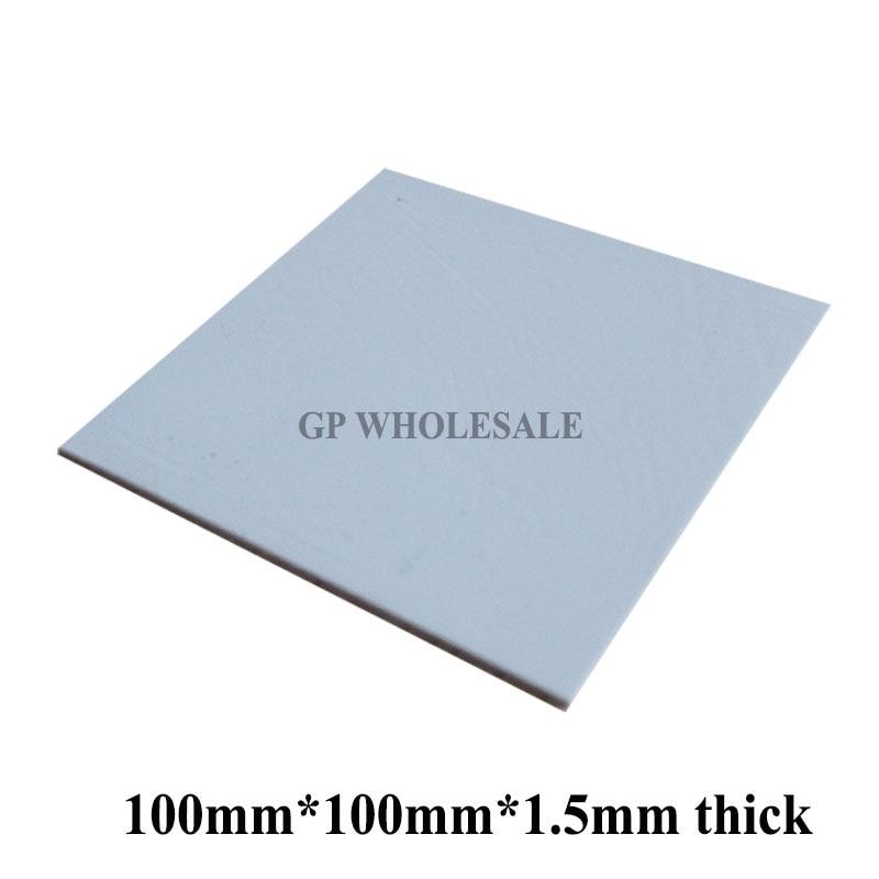 [해외]히트 싱크 노트북/ic/칩셋/칩/vga gpu 갭 용 100mm * 100mm * 1.5mm 연질 실리콘 열 패드/열 패드/열 전도성/히트 싱크 노트북/ic/칩셋/칩/vga gpu 갭 용 100mm * 100mm * 1.5mm 연질 실리콘 열