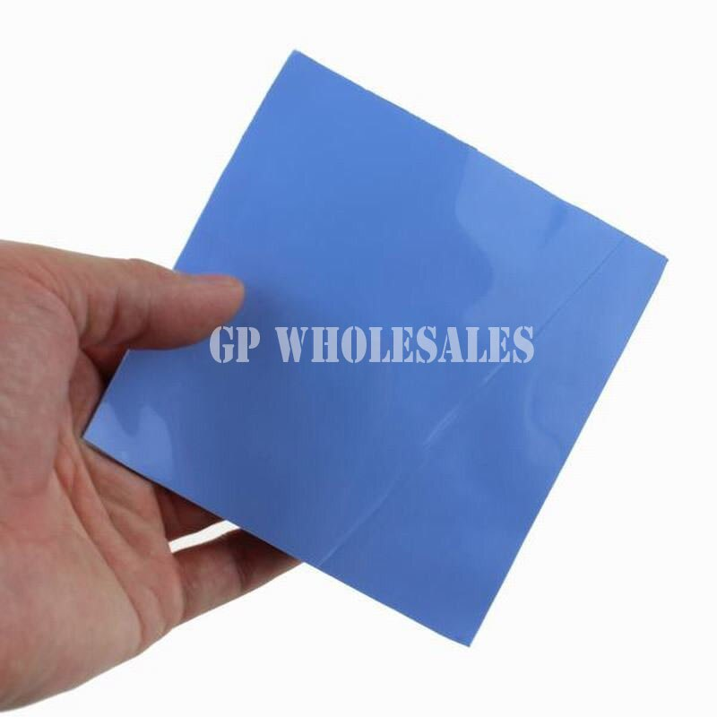[해외]100mm*100mm*5.0mm Soft Silicone Thermal Pad for Heatsink /Chipset LED Gap Insulating /Cooling /Sealing Lower Vibration Blue/100mm*100mm*