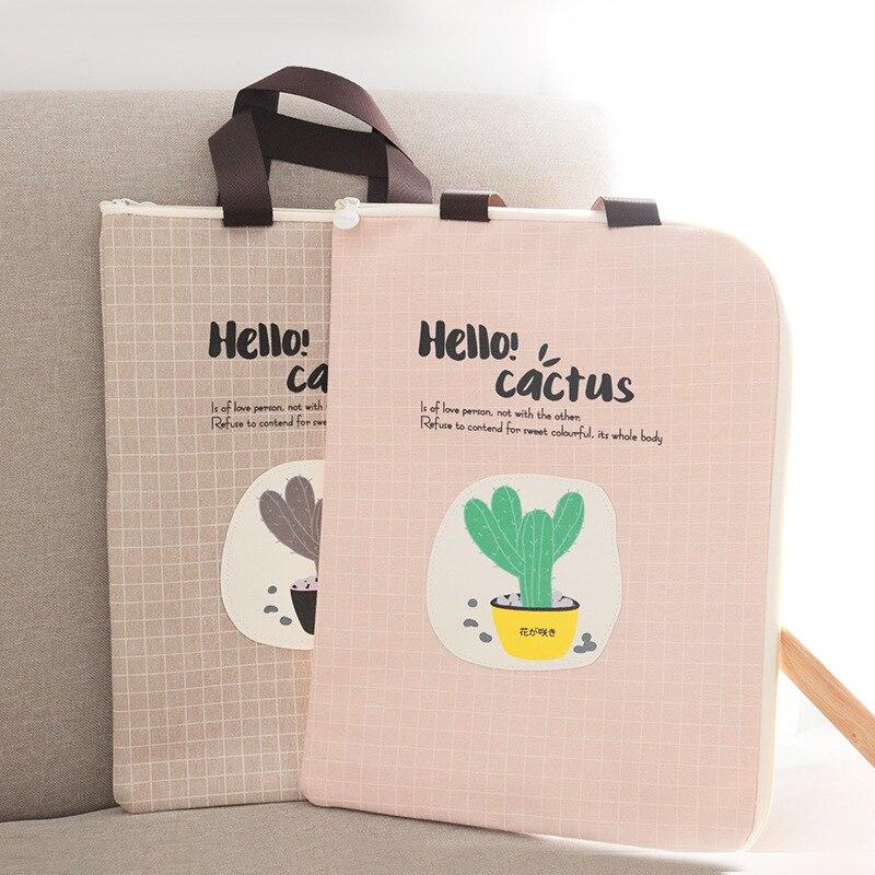 [해외]1pcs 한국어 창조적 인 휴대용 문서 가방 a4 옥스포드 간단한 파일 가방 귀여운 지퍼 가방 학생/1pcs Korean creative portable document bag a4 oxford simple file bag cute zipper bag stude