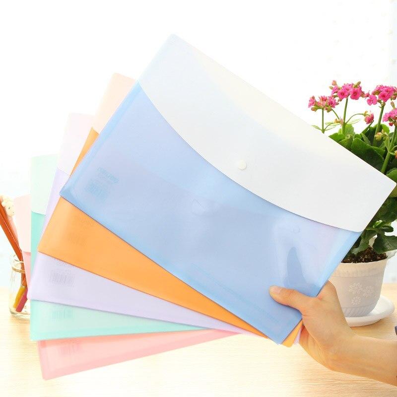 [해외]3 PC A4 사무실 PP 컬러 보고서 커버 폴더 Gag 문서 제출 제품 310x225mm 5 색 Deli 5522/3 Pcs A4 Office PP Color Report Cover Folder Gag For Documents Filing Products 31