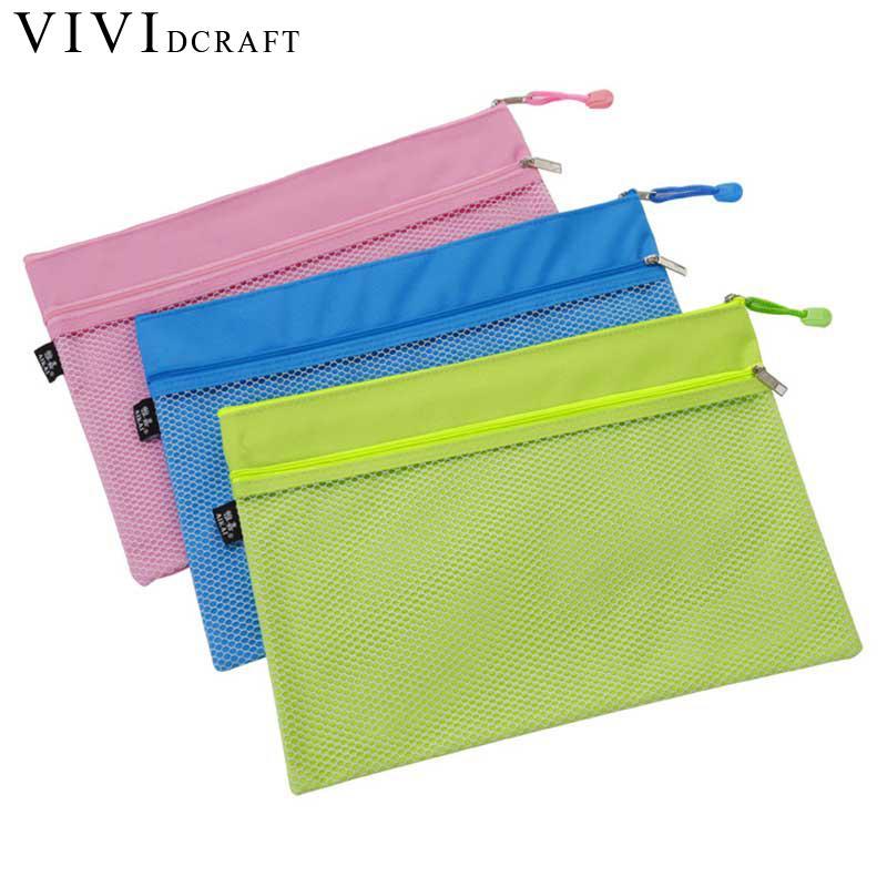 [해외]다채로운 더블 레이어 캔버스 천으로 지퍼 종이 파일 폴더 책 연필 펜 케이스 가방 파일 문서 가방 파일 가방/Colorful Double Layer Canvas Cloth Zipper Paper File Folder Book Pencil Pen Case Bag