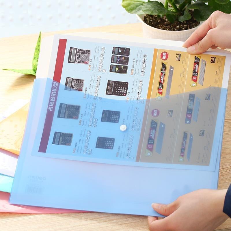 [해외]/10 Pcs Office PP Color Report Cover And Elastic Closure Folder Bag 310x225mm Filing Products Deli 5522