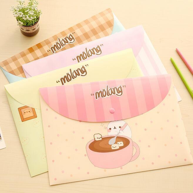 [해외]/24pcs/lot New Cute Potato Rabbit series File bag PVC waterproof Filebag/DIY Stationery bag/office school supplies/wholesale