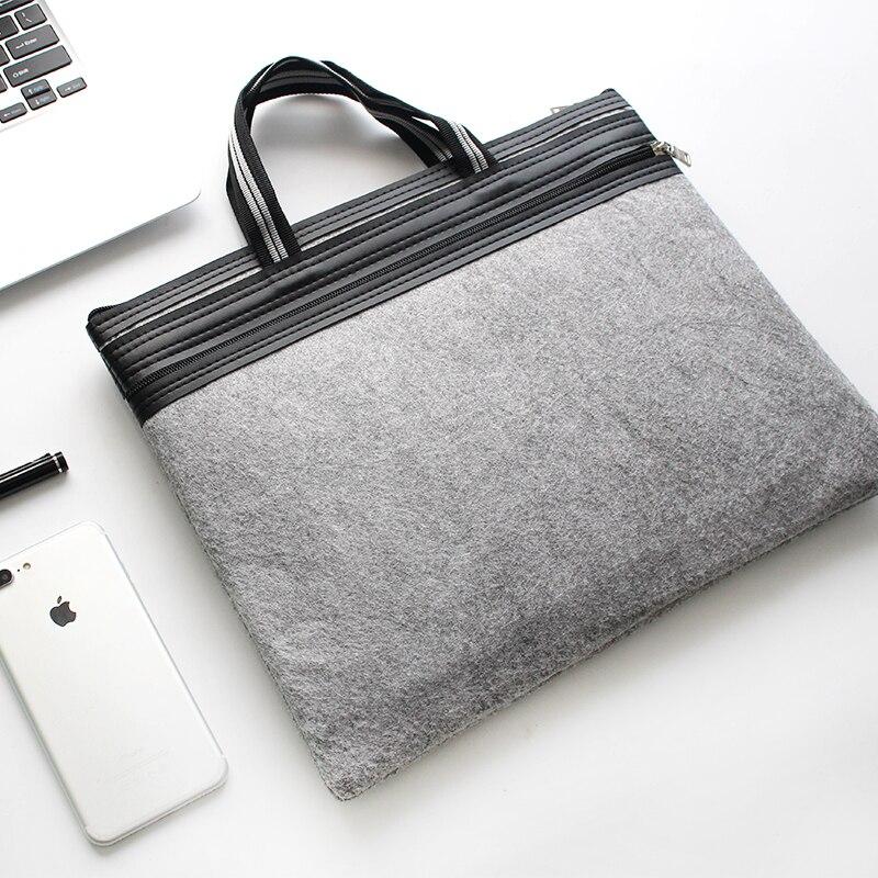 [해외]/Hot Selling Minimalist Style A4 Double Zipper Handbag Felt Bag Men`s Office Bag Document Bag Computer Folders Filling Products