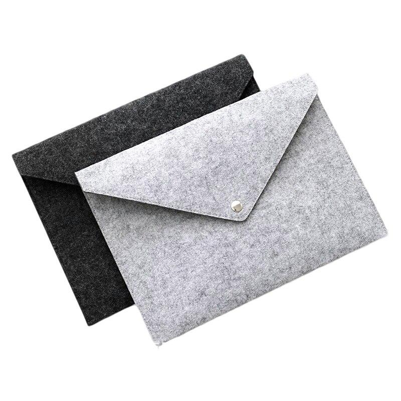 [해외] Retro A4 Big Capacity Document Bag Business Briefcase File Folders Chemical Felt Filing Products Student Gifts/ Retro A4 Big Capacity Document Ba