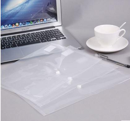 [해외]Document Bag A4 Transparent Coin Folder Office Kit Snap File Bag Press Button/Document Bag A4 Transparent Coin Folder Office Kit Snap File Bag Pre