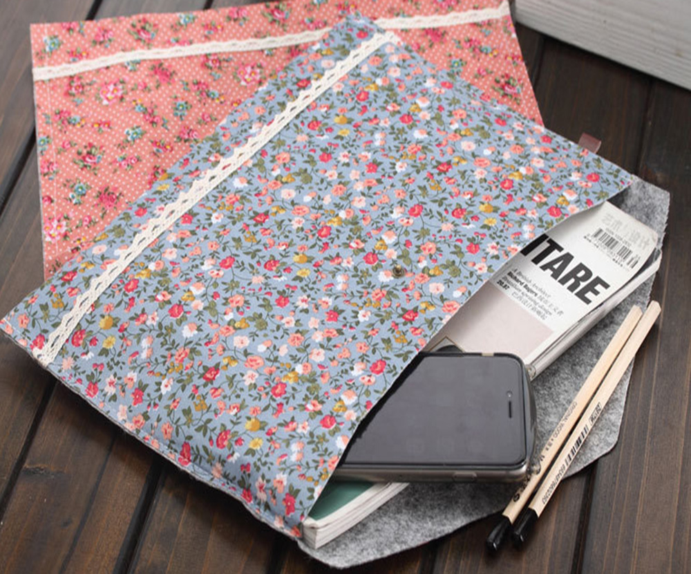 [해외]Elegant Floral A4 Snap Closure Filing Product Test Bags Report Cover Papers Document Creative File Stationery/Elegant Floral A4 Snap Closure Filin