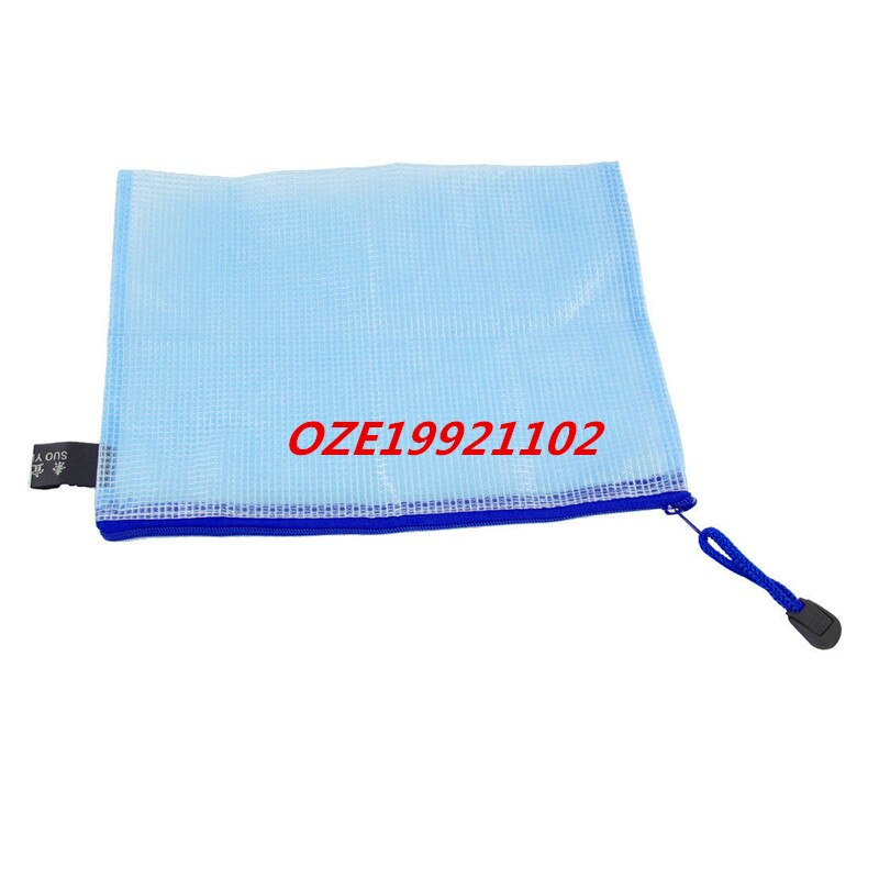 [해외]1 PCS Light Blue Soft Plastic Zip Top Closure Paper Document File Bag for A5/1 PCS Light Blue Soft Plastic Zip Top Closure Paper Document File Bag